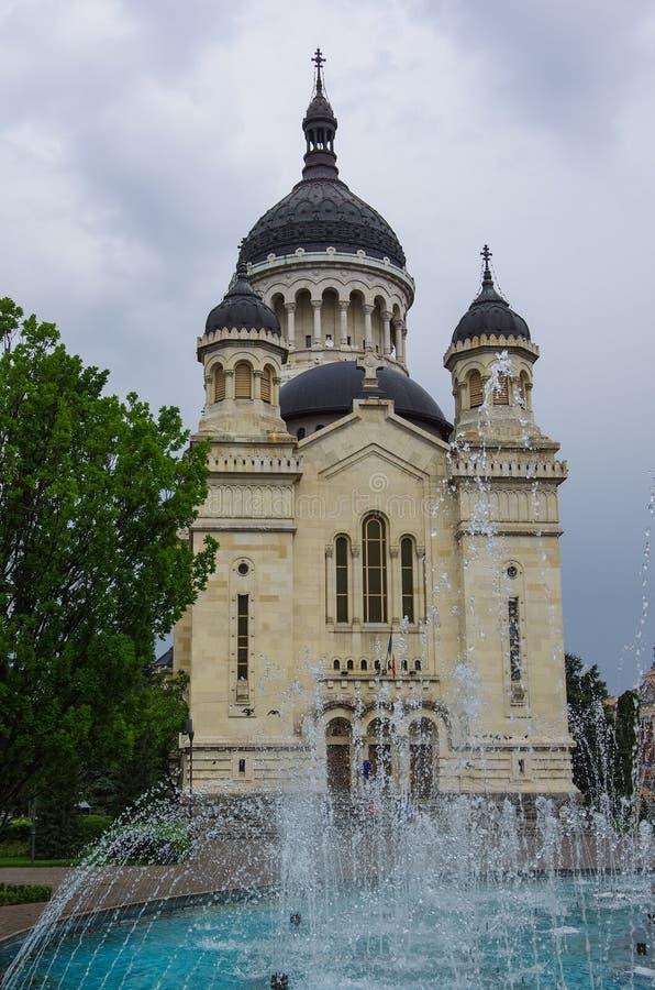 Dormition ortodoxo de la catedral de Theotokos Cluj-Napoca rom fotografía de archivo libre de regalías