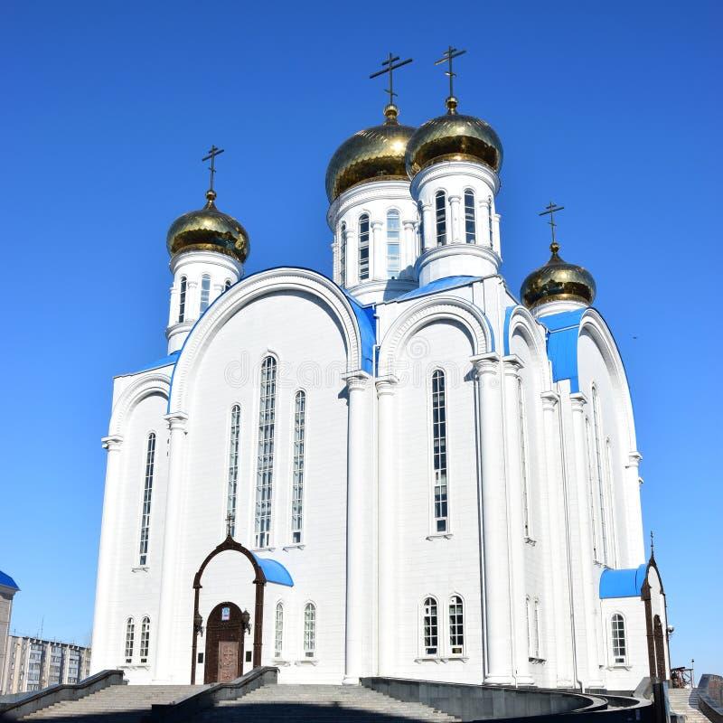 Dormitionkathedraal in Astana stock fotografie