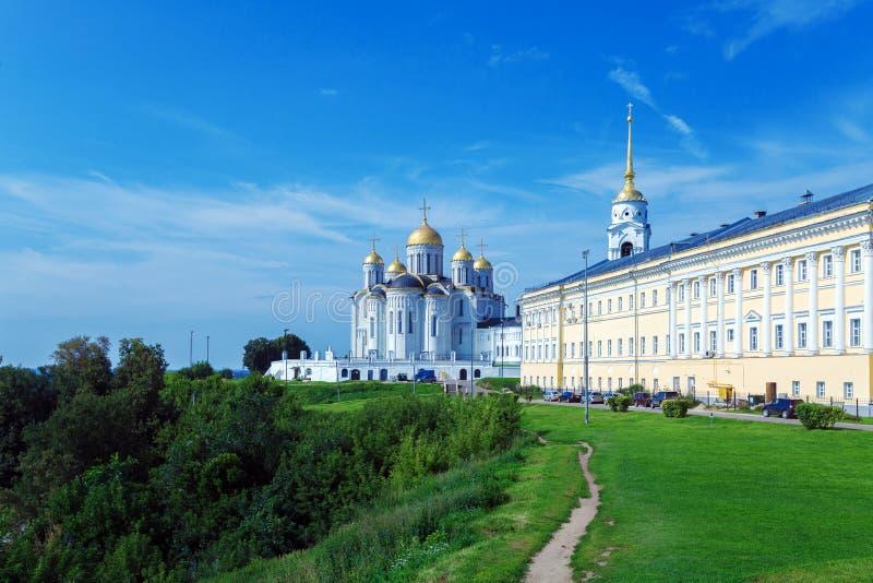 Dormitionkathedraal (1160) in Vladimir, Rusland stock foto
