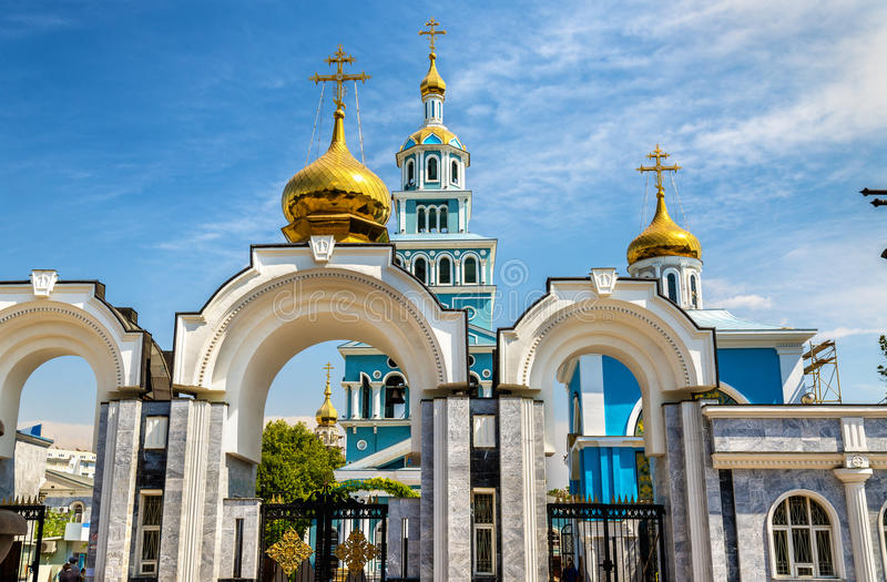Dormitions-Kathedrale der Russisch-Orthodoxer Kirche in Taschkent - Usbekistan lizenzfreies stockfoto