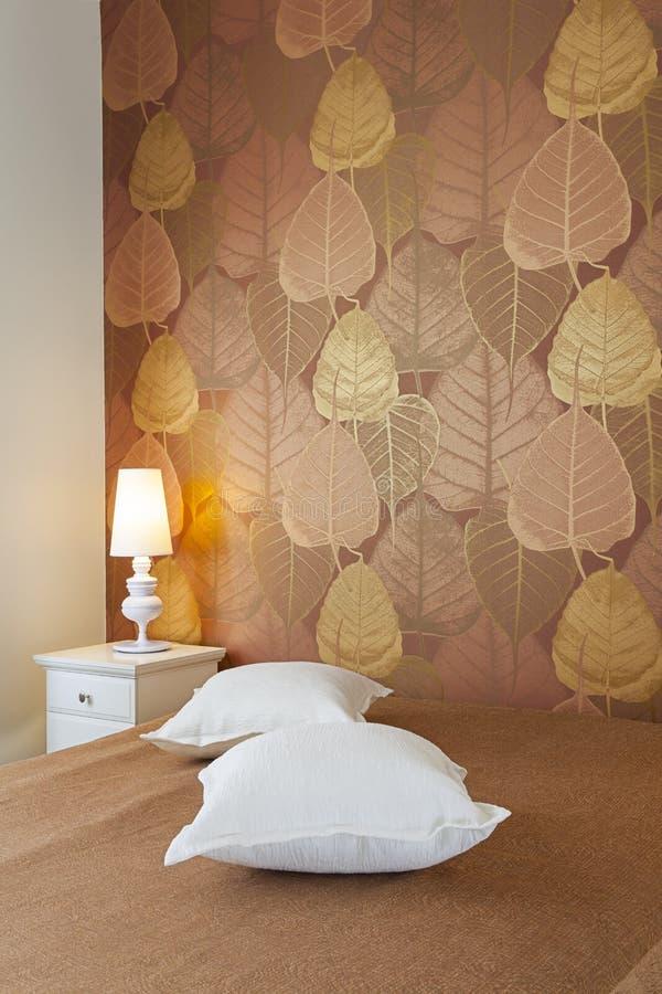 Dormitorio brillante de lujo imagen de archivo libre de regalías