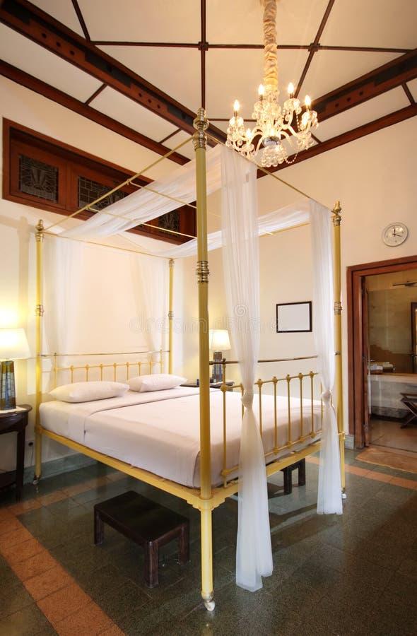 Dormitorio de la vendimia foto de archivo
