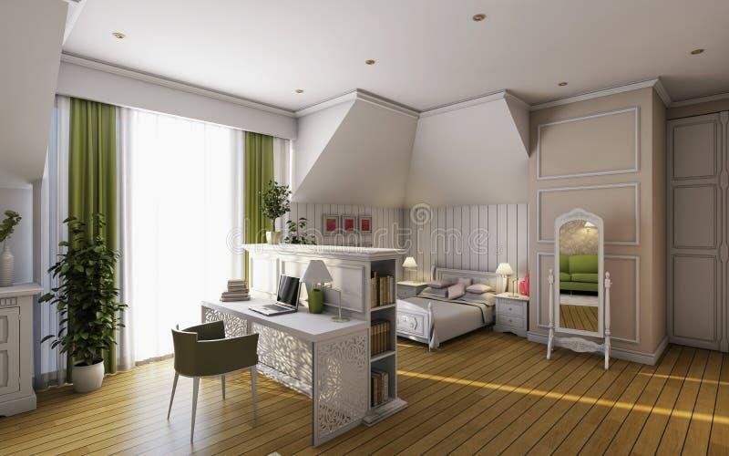 Dormitorio de los niños ilustración del vector