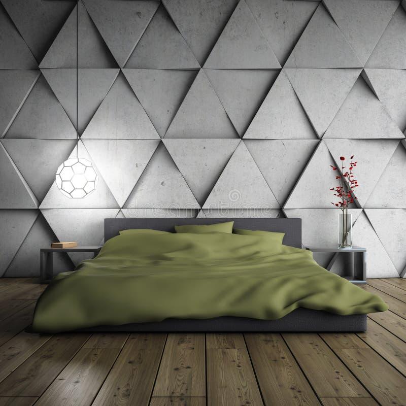 Dormitorio de Minimalistic imagen de archivo libre de regalías
