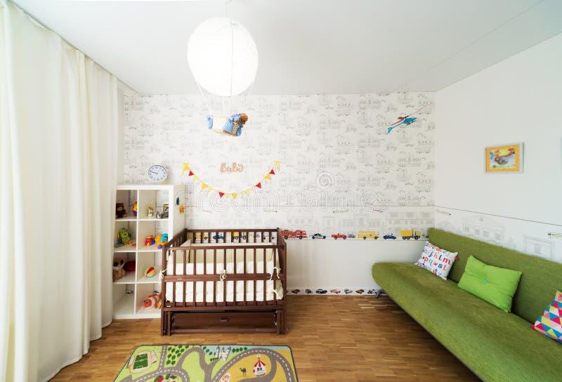 Dormitorio del bebé fotografía de archivo libre de regalías
