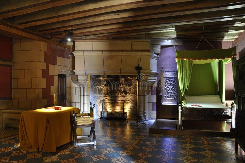 Dormitorio del castillo foto de archivo