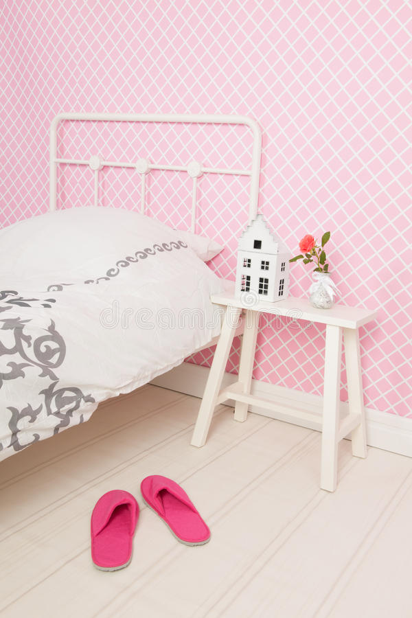 Dormitorio del detalle foto de archivo libre de regalías