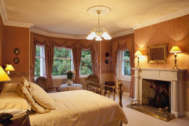 Dormitorio del Victorian foto de archivo