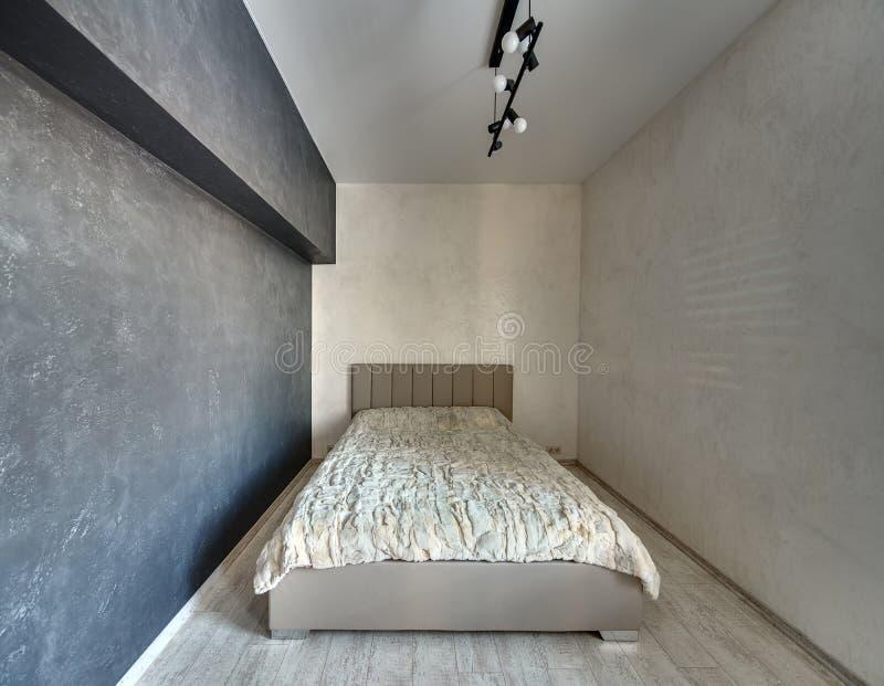 Dormitorio elegante en estilo moderno fotografía de archivo