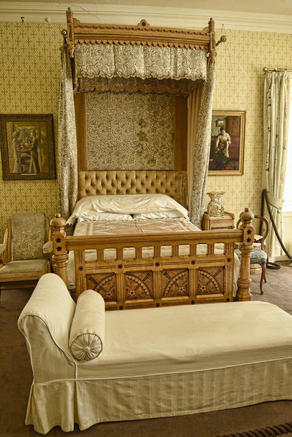 Dormitorio en una casa de campo hermosa cerca de Leeds West Yorkshire que no es una propiedad de confianza nacional imagen de archivo libre de regalías
