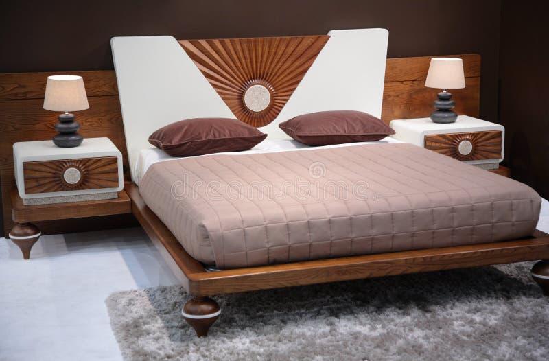Dormitorio moderno imagen de archivo libre de regalías