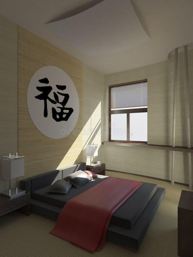 Dormitorio moderno del hotel ilustración del vector