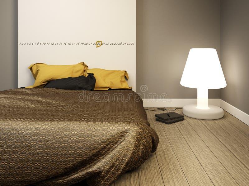 Dormitorio moderno elegante foto de archivo libre de regalías