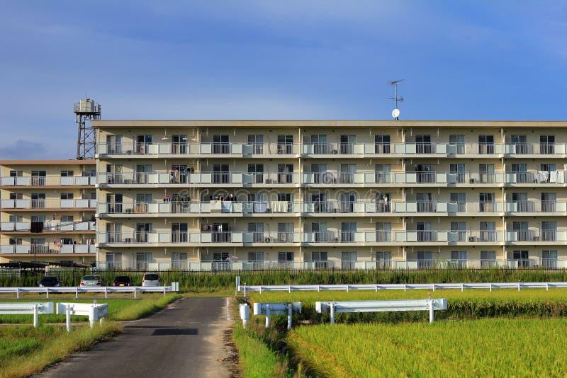 Dormitorio nella campagna del Giappone fotografia stock
