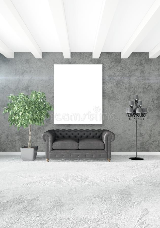 Dormitorio O Sala De Estar Interior Moderna Vertical Con La Pared ...