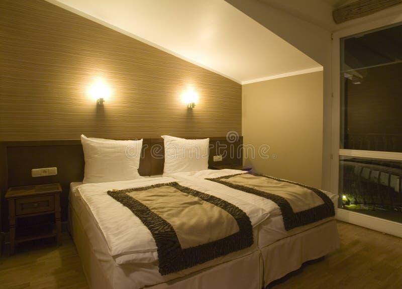 Dormitorio simple fotos de archivo