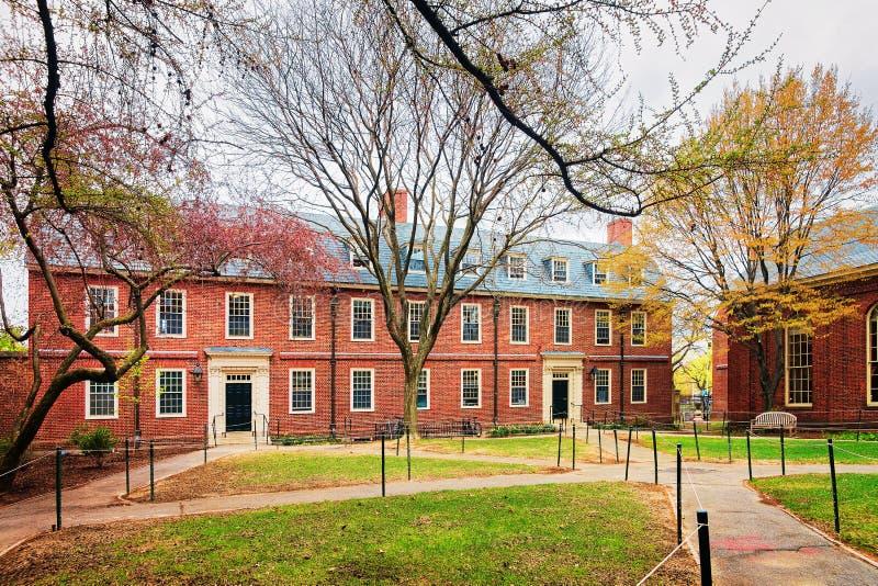Dormitorium budynek w Harvard jarda uniwersytet harwarda Cambridge obraz royalty free