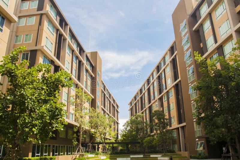 dormitorium budynku perspektywa obraz stock
