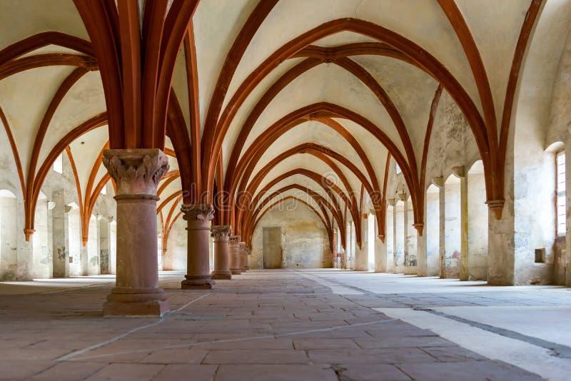Dormitorium pokój w monasterze zdjęcie royalty free