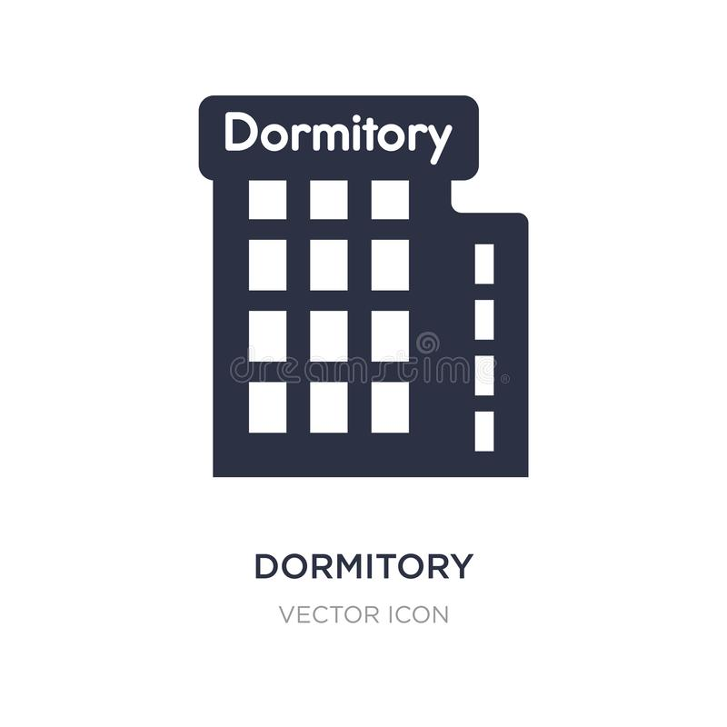 dormitory icon on white background. Simple element illustration from Maps and Flags concept vector illustration