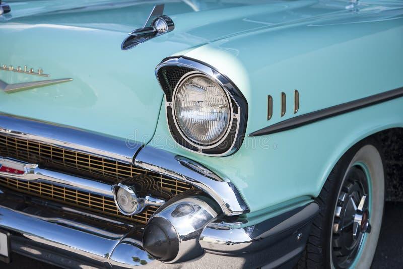 Dornbirn, Oostenrijk, 12 Juni 2012: Voordetail van Chevrolet vin royalty-vrije stock afbeelding