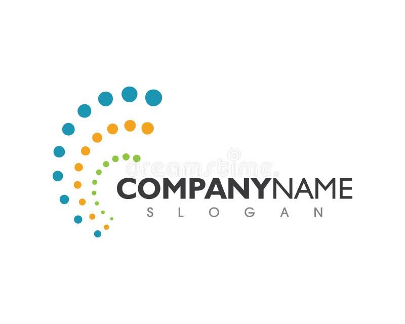 Dorndiagnostiksymbol-Logoschablone lizenzfreie abbildung