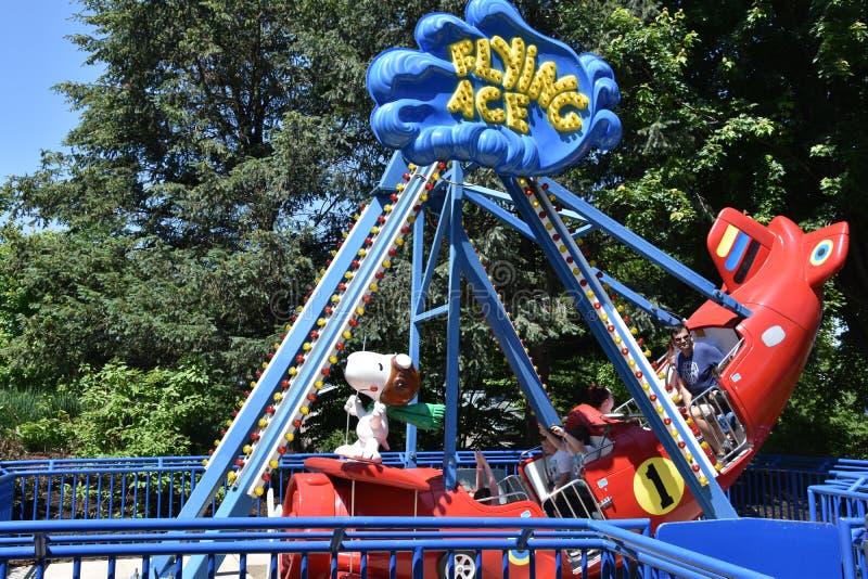 Dorney Park in Allentown, Pennsylvania royalty free stock images