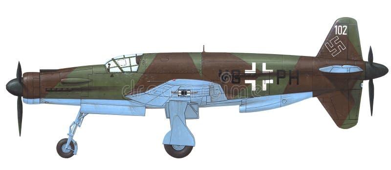 Dornier Do-335 Pfeil ilustración del vector