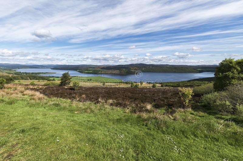 Dornoch Firth. From Struie Hill viewpoint on the B9176, Easter Ross, Highland, Scotland royalty free stock images
