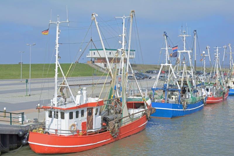 Dornumersiel,北海,德国 库存图片