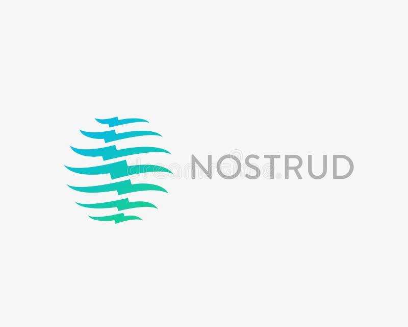 Dornvektor-Logodesign Medizinisches modernes Diagnosefirmenzeichen lizenzfreie abbildung