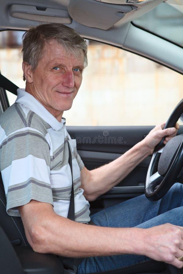 Dorośleć doświadczał kierowcy obraz royalty free