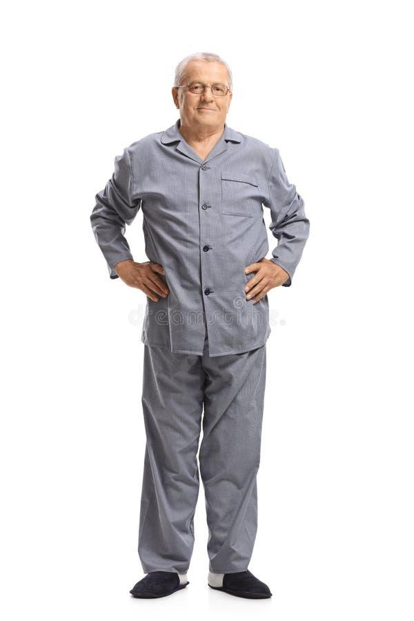Dorośleć mężczyzna w piżamach obraz stock