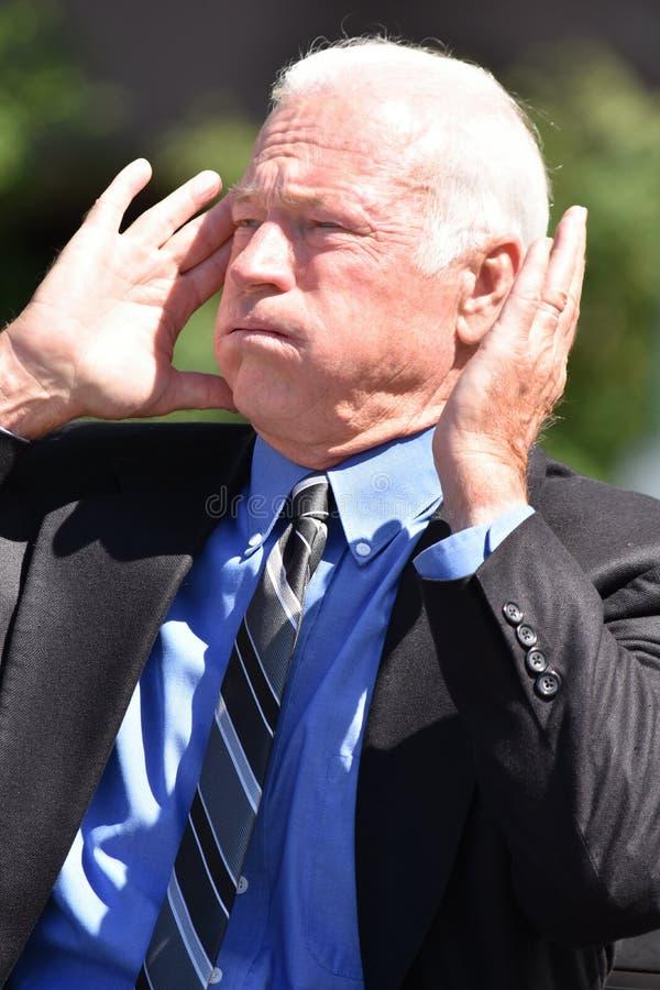 Dorosły Starszy dyrektor wykonawczy Jest ubranym kostium I krawat Pod stresem obrazy royalty free
