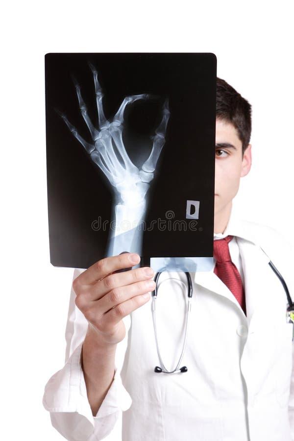 dorosła caucasian lekarki samiec w połowie obraz royalty free