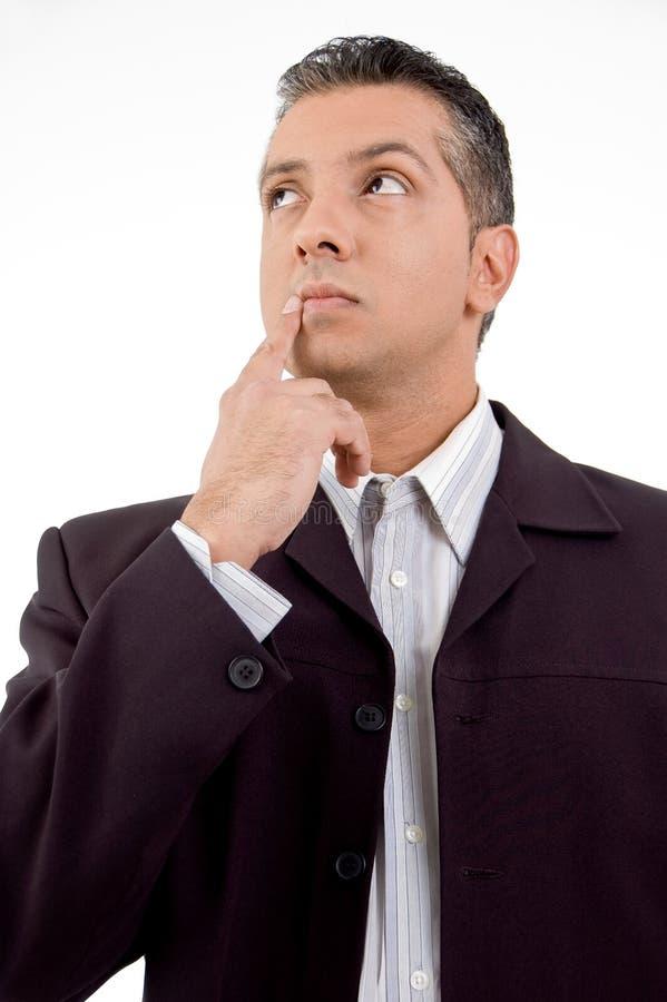 dorosłego aside biznesmena przyglądający główkowanie zdjęcia stock