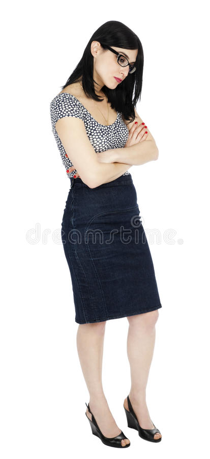 Odosobniona Smutna 30's kobieta zdjęcie royalty free