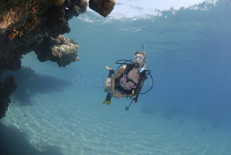 dorosły bikini nurka kobiety akwalung obrazy stock