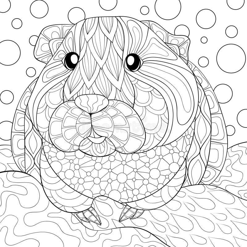 Dorosły kolorystyki strony królik doświadczalny ilustracji