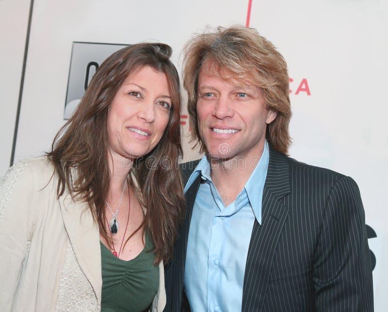 Dorothea Hurley y Jon Bon Jovi foto de archivo libre de regalías