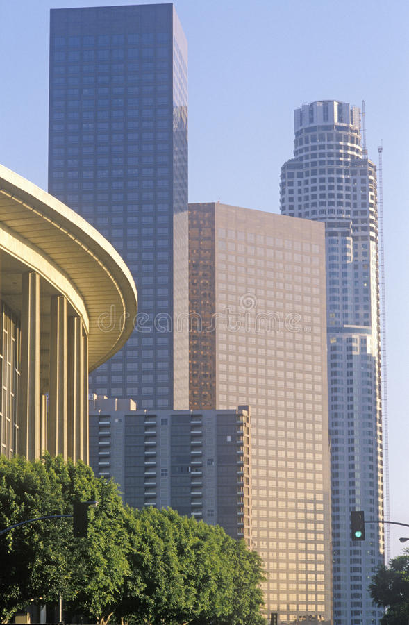 Dorothy Chandler Pavilion in the city of Los Angeles, California royalty free stock photography