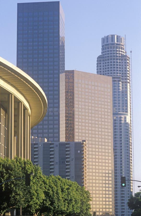 Dorothy Chandler Pavilion i staden av Los Angeles, Kalifornien royaltyfri fotografi