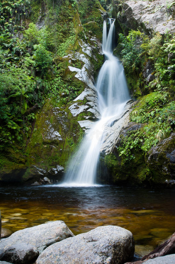 Dorothy Falls, Meer Kaniere stock afbeelding