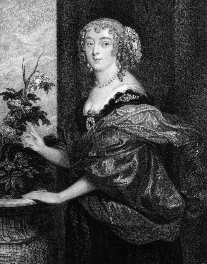 Dorothy Spencer, Countess of Sunderland. (1617-1684) on engraving from 1829. Engraved by T.Wright and published in ''Portraits of Illustrious Personages of stock image