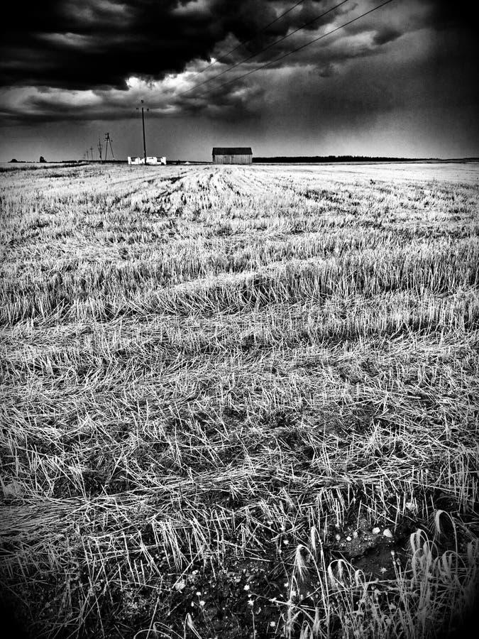 dorp Artistiek kijk in zwart-wit stock fotografie