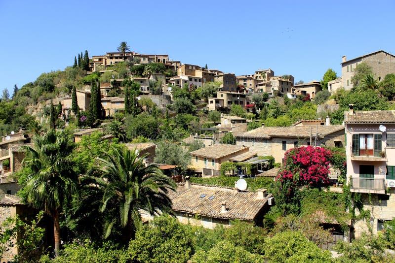 Dorp Deia op Mallorca, Spanje stock fotografie