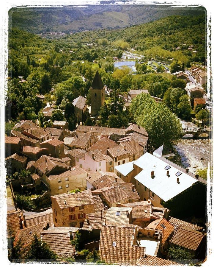 Dorp in Frankrijk stock foto