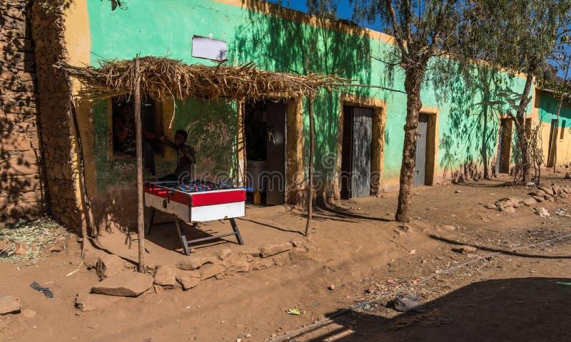Dorp in Gheralta in Tigray, Noordelijk Ethiopië stock afbeeldingen