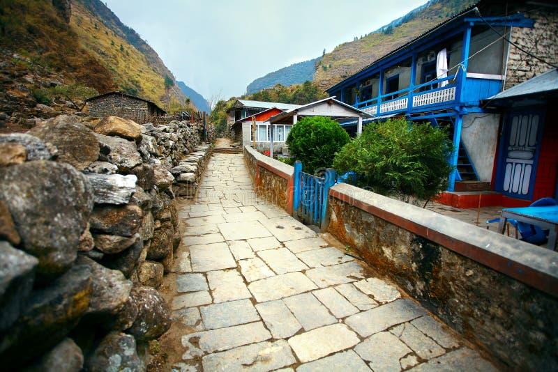 Dorp in Nepal royalty-vrije stock foto's