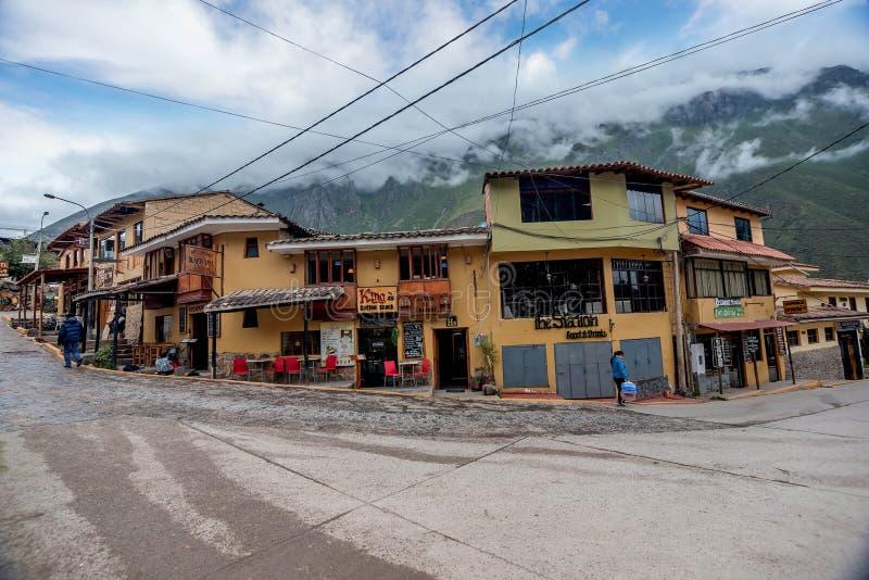 Dorp Ollantaytambo, Peru stock foto